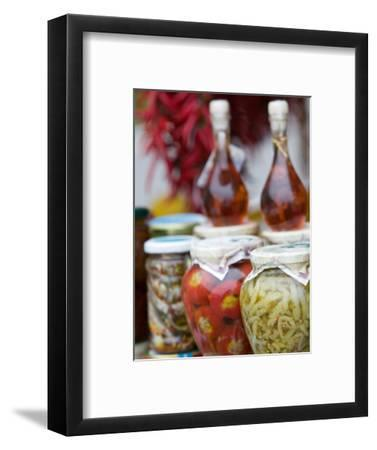 Marinated Vegetables, Positano, Amalfi Coast, Campania, Italy-Walter Bibikow-Framed Photographic Print