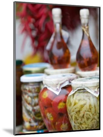 Marinated Vegetables, Positano, Amalfi Coast, Campania, Italy-Walter Bibikow-Mounted Photographic Print