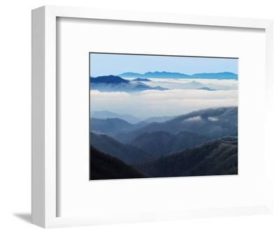 Winter View of Thomas Divide, Great Smoky Mountains National Park, North Carolina, USA-Adam Jones-Framed Photographic Print