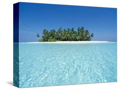 Uninhabited Tropical Island, Ari Atoll, Maldives-Stuart Westmoreland-Stretched Canvas Print