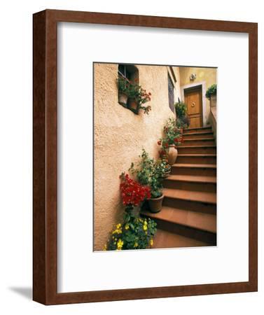 Tuscan Staircase, Italy-Walter Bibikow-Framed Premium Photographic Print