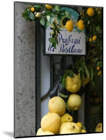 Lemons, Positano, Amalfi Coast, Campania, Italy-Walter Bibikow-Mounted Premium Photographic Print
