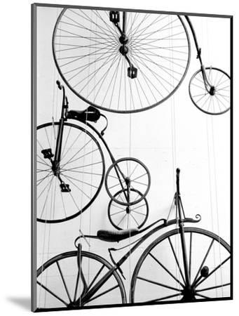 Bicycle Display at Swiss Transport Museum, Lucerne, Switzerland-Walter Bibikow-Mounted Photographic Print