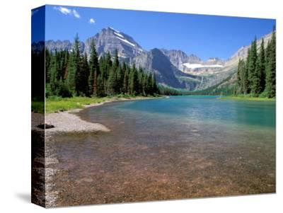 Lake Josephine with Grinnell Glacier and the Continental Divide, Glacier National Park, Montana-Jamie & Judy Wild-Stretched Canvas Print