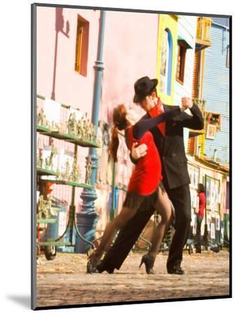 Tango Dancers on Caminito Avenue, La Boca District, Buenos Aires, Argentina-Stuart Westmoreland-Mounted Photographic Print