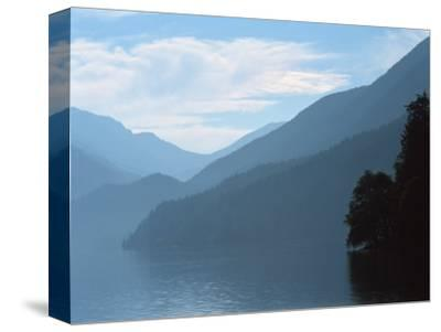 Lake Crescent in the Olympic Mountains, Washington, USA-Jerry Ginsberg-Stretched Canvas Print