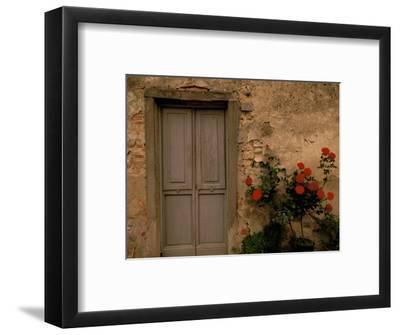 Tuscan Doorway, Castellina, Il Chianti, Tuscany, Italy-Walter Bibikow-Framed Photographic Print