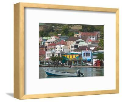 Shops, Restaurants and Wharf Road, The Carenage, Grenada, Caribbean-Walter Bibikow-Framed Photographic Print