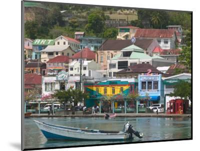 Shops, Restaurants and Wharf Road, The Carenage, Grenada, Caribbean-Walter Bibikow-Mounted Photographic Print