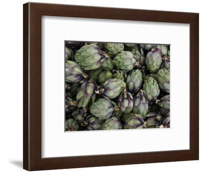 Artichokes, Produce Market, Ortygia Island, Syracuse, Sicily, Italy-Walter Bibikow-Framed Photographic Print