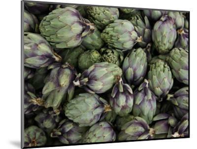 Artichokes, Produce Market, Ortygia Island, Syracuse, Sicily, Italy-Walter Bibikow-Mounted Photographic Print