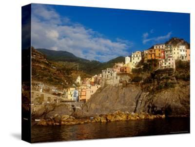 View of Manarola, Cinque Terre, Italy-Alison Jones-Stretched Canvas Print