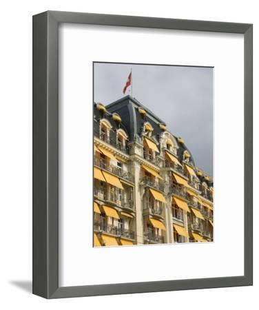 Le Montreux Place Hotel on Lake Geneva, Montreux, Swiss Riviera, Vaud, Switzerland-Walter Bibikow-Framed Photographic Print
