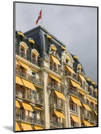 Le Montreux Place Hotel on Lake Geneva, Montreux, Swiss Riviera, Vaud, Switzerland-Walter Bibikow-Mounted Photographic Print