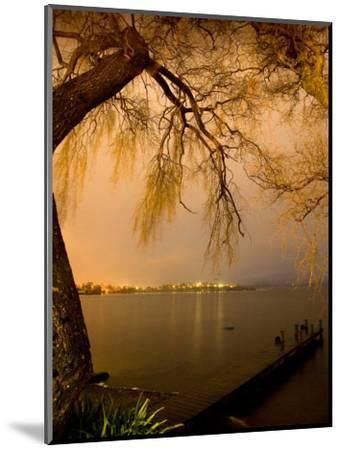City Lights across Lake Rotorua, Rotorua, Bay of Plenty, North Island, New Zealand-David Wall-Mounted Photographic Print