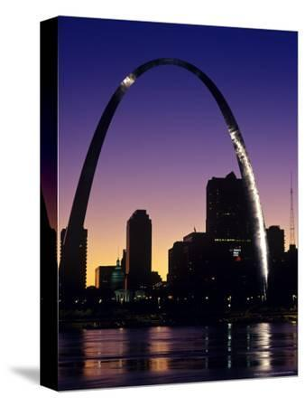 Looking Across the Mississippi River to St Louis, USA-Chuck Haney-Stretched Canvas Print