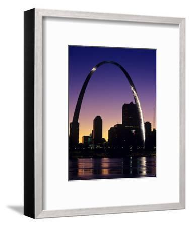 Looking Across the Mississippi River to St Louis, USA-Chuck Haney-Framed Photographic Print