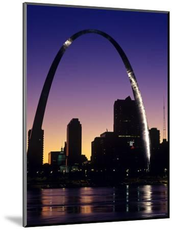 Looking Across the Mississippi River to St Louis, USA-Chuck Haney-Mounted Photographic Print