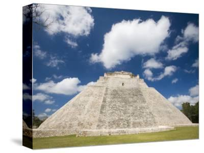 The Pyramid of The Magician, Uxmal, Yucatan, Mexico-Julie Eggers-Stretched Canvas Print