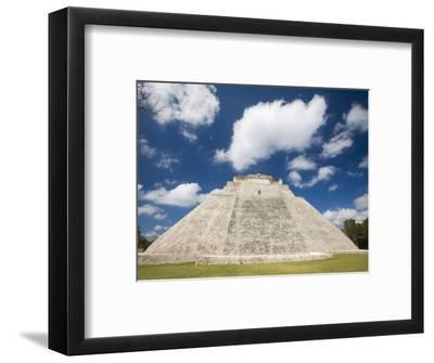 The Pyramid of The Magician, Uxmal, Yucatan, Mexico-Julie Eggers-Framed Photographic Print