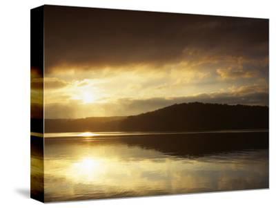 Lake at Sunrise, Lake of the Ozarks, Missouri, USA-Charles Gurche-Stretched Canvas Print