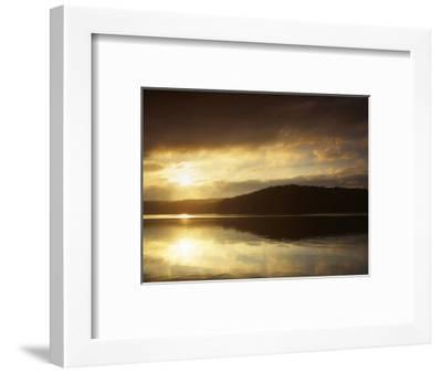 Lake at Sunrise, Lake of the Ozarks, Missouri, USA-Charles Gurche-Framed Photographic Print