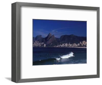 Praia De Ipanema, Rio De Janeiro, Brazil-Julie Bendlin-Framed Photographic Print