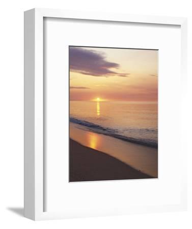 Sunrise over Atlantic, Cape Cod National Seashore, Massachusetts, USA-Charles Gurche-Framed Photographic Print