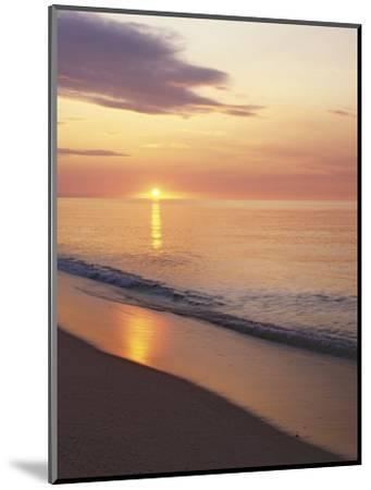 Sunrise over Atlantic, Cape Cod National Seashore, Massachusetts, USA-Charles Gurche-Mounted Photographic Print