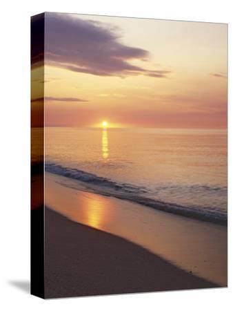 Sunrise over Atlantic, Cape Cod National Seashore, Massachusetts, USA-Charles Gurche-Stretched Canvas Print