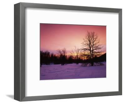 Sunrise at Thorton Gap, Shenandoah National Park, Virginia, USA-Charles Gurche-Framed Photographic Print