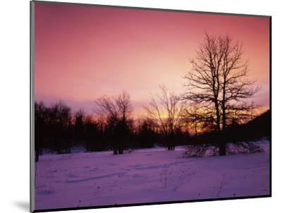 Sunrise at Thorton Gap, Shenandoah National Park, Virginia, USA-Charles Gurche-Mounted Photographic Print