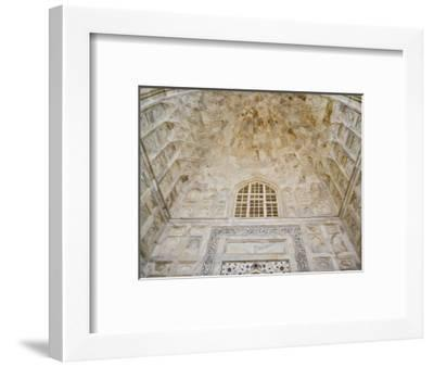 Architectural details, Taj Mahal, Agra, India-Adam Jones-Framed Photographic Print