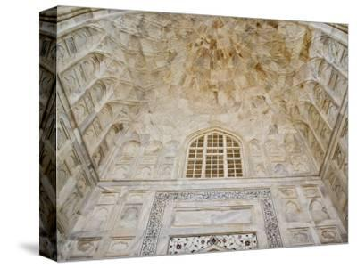 Architectural details, Taj Mahal, Agra, India-Adam Jones-Stretched Canvas Print