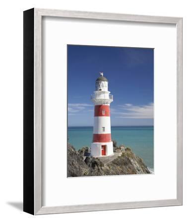 Historic Cape Palliser Lighthouse (1897), Wairarapa, North Island, New Zealand-David Wall-Framed Photographic Print