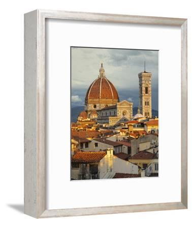 Duomo, Florence Cathedral at Sunset, Basilica of Saint Mary of the Flower, Florence, Italy-Adam Jones-Framed Photographic Print