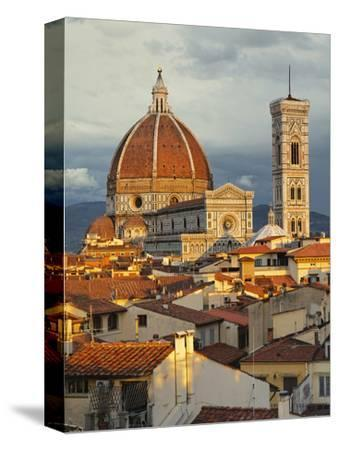 Duomo, Florence Cathedral at Sunset, Basilica of Saint Mary of the Flower, Florence, Italy-Adam Jones-Stretched Canvas Print