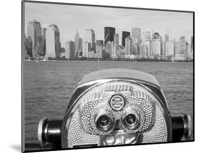 Coin Operated Binoculars Pointed at Manhattan Skyline, Hudson River, Jersey City, New Jersey, Usa-Paul Souders-Mounted Photographic Print