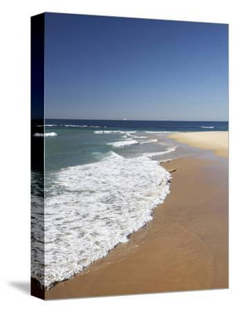 Nobbys Beach, Newcastle, New South Wales, Australia-David Wall-Stretched Canvas Print