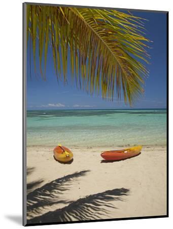 Kayaks on the Beach, Plantation Island Resort, Malolo Lailai Island, Mamanuca Islands, Fiji-David Wall-Mounted Premium Photographic Print