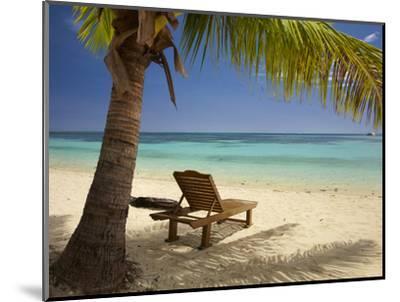 Beach and Lounger, Plantation Island Resort, Malolo Lailai Island, Mamanuca Islands, Fiji-David Wall-Mounted Premium Photographic Print