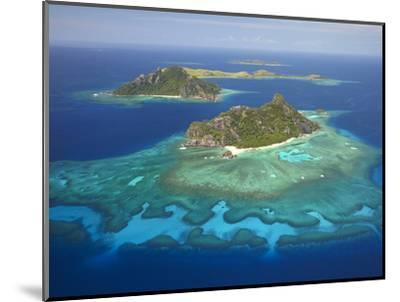 Monuriki Island and Coral Reef, Mamanuca Islands, Fiji-David Wall-Mounted Photographic Print