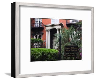Mercer Williams House Museum, Savannah, Georgia, USA-Joanne Wells-Framed Photographic Print