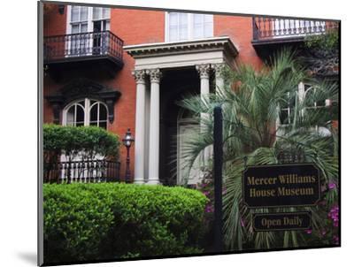 Mercer Williams House Museum, Savannah, Georgia, USA-Joanne Wells-Mounted Photographic Print