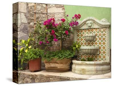 Hotel Courtyard, Guanajuato, Mexico-John & Lisa Merrill-Stretched Canvas Print
