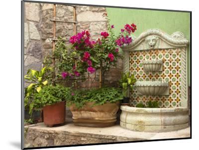Hotel Courtyard, Guanajuato, Mexico-John & Lisa Merrill-Mounted Photographic Print