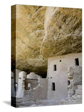Spruce Tree House Ruins, Mesa Verde National Park, Colorado, USA-Cindy Miller Hopkins-Stretched Canvas Print