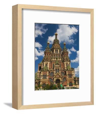 Saints Peter and Paul Cathedral, Peterhof, Saint Petersburg, Russia-Walter Bibikow-Framed Photographic Print