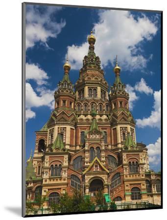 Saints Peter and Paul Cathedral, Peterhof, Saint Petersburg, Russia-Walter Bibikow-Mounted Photographic Print