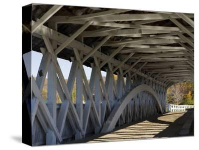 Covered Bridge over the Upper Ammonoosuc River, Groveton, New Hampshire, USA-Jerry & Marcy Monkman-Stretched Canvas Print